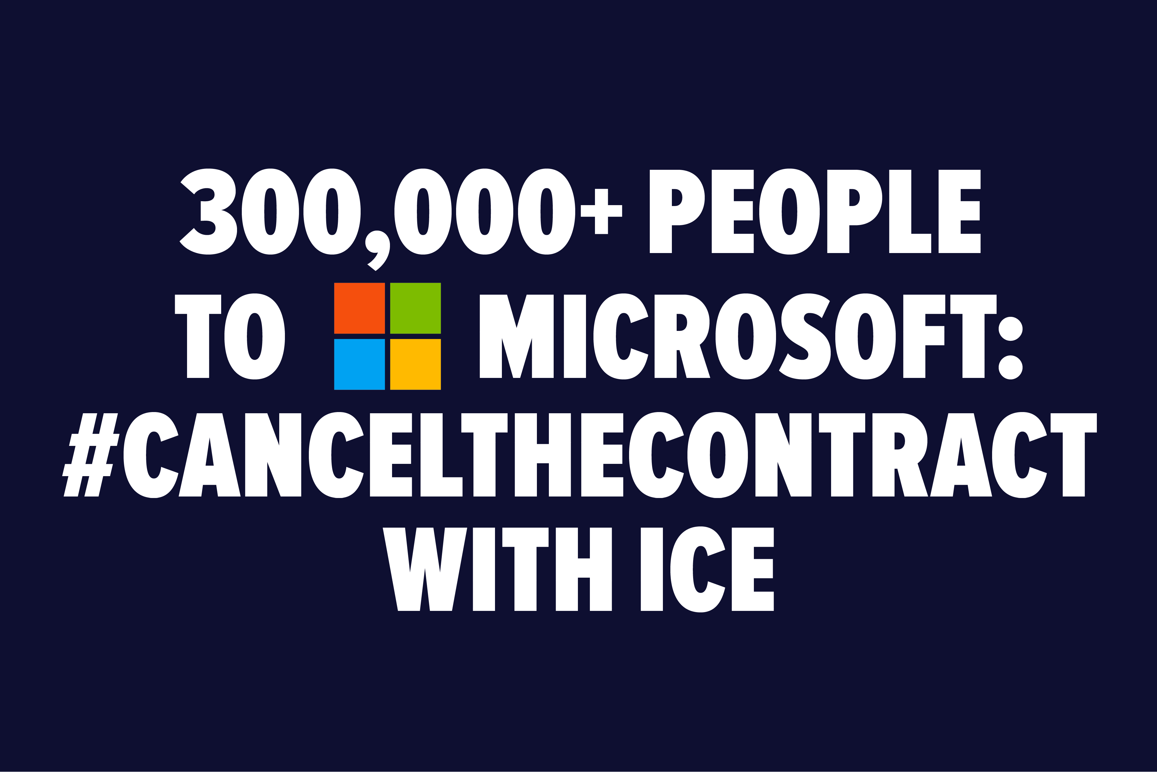 #CancelTheContract with ICE